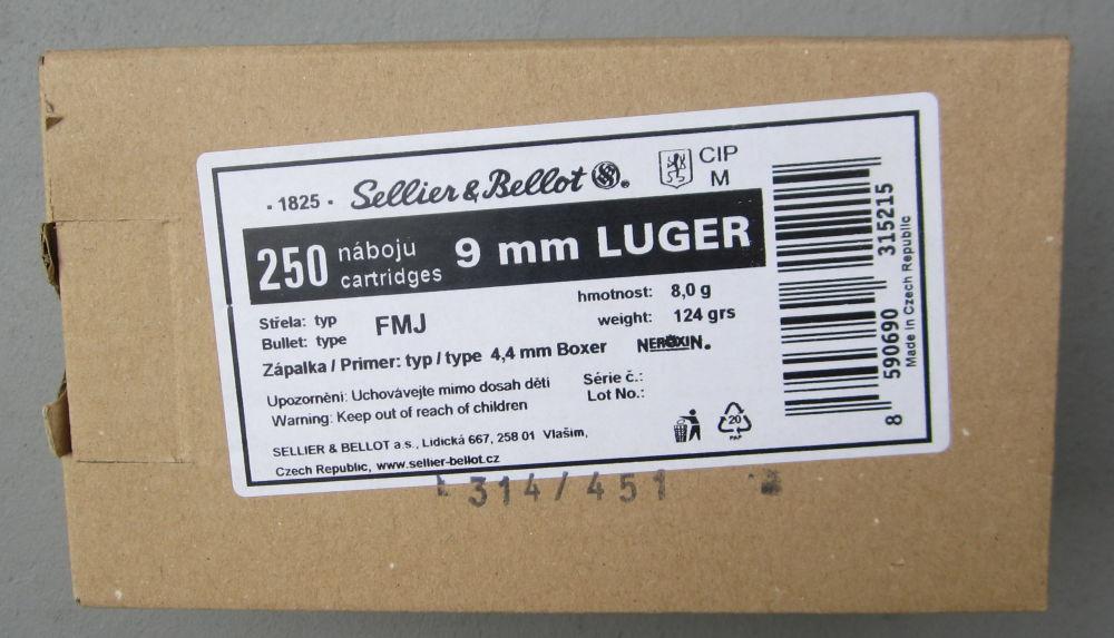 SELLIER & BELLOT 9 mm Luger VM  - sofort lieferbar -