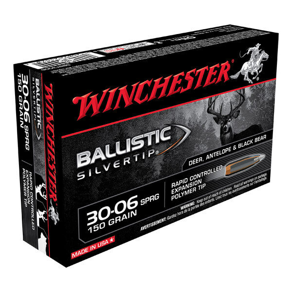 Winchester 150GR BSILVERTIP A20 .30-06