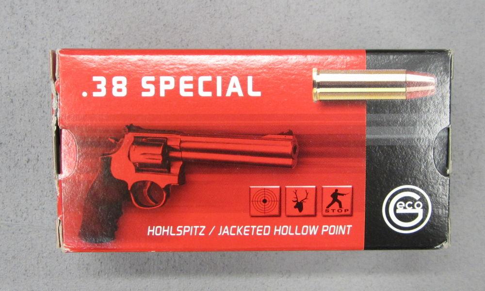 GECO 38 spec.   Hohlspitz oder Vollmantel Flachkopf