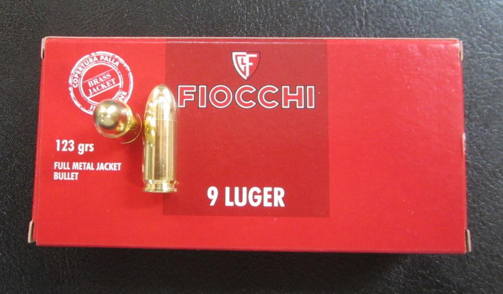 FIOCCHI  ITALY FIOCCHI  9 mm Luger  123 grain