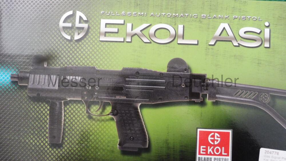Ekol ASI Schreckschusspistole / Maschinenpistole mit Klappschaft