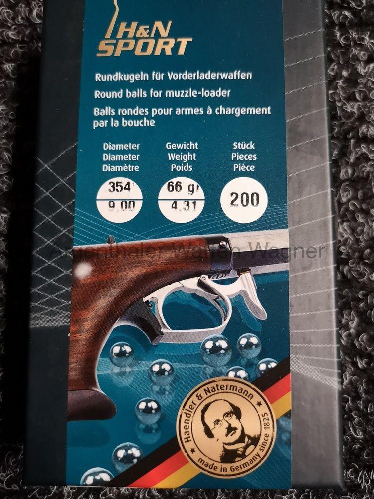 Haendler & Natermann Vorderladerrundkugeln A200 Kal. .354 / 9mm