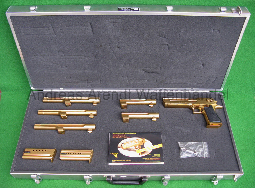 IMI Israel Military Industries Desert Eagle Mk. XIX Titanium Gold Combo