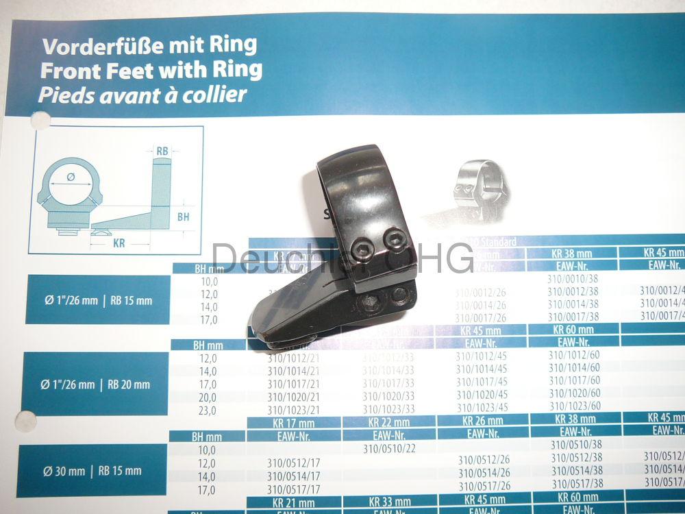 EAW Vorderfuß mit Ring 30mm