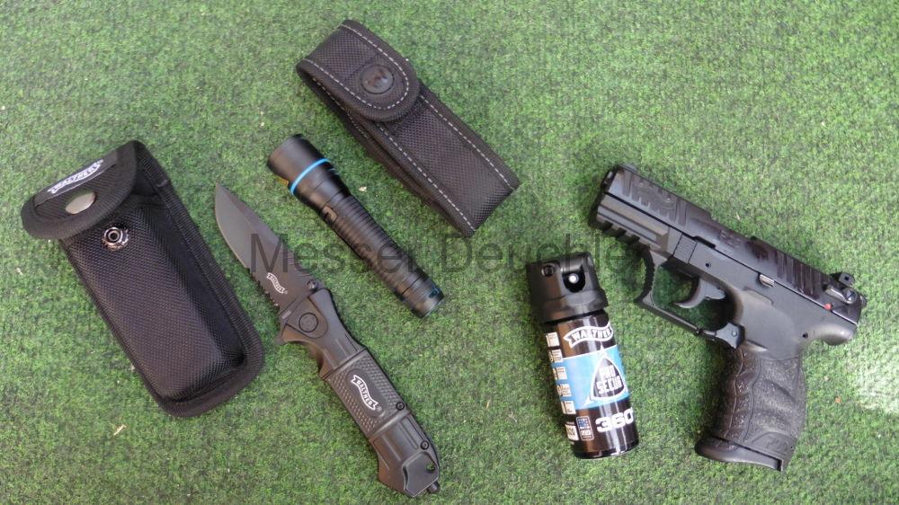 Walther   Sicherheitskoffer Gaswaffe,  Messer, Lampe, Pfefferspray P22Q R2D