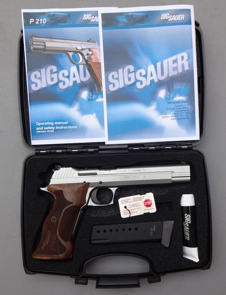 SIG SAUER SIG P210 Silver Super Target HF Ausführung