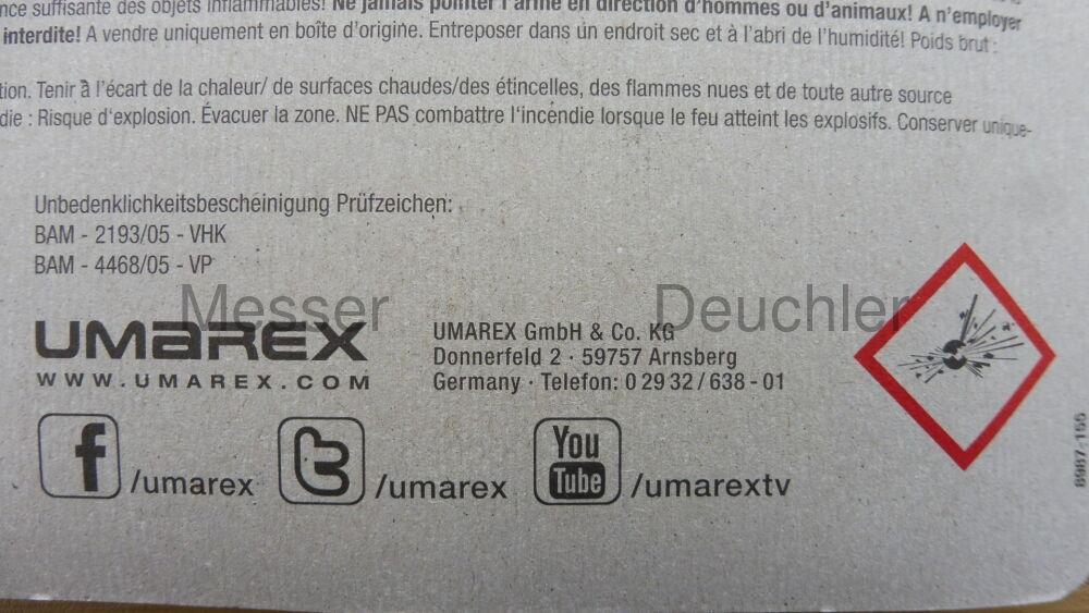 Umarex Tactical Pfeipatronen, etra Laut 50 Stück (P18)