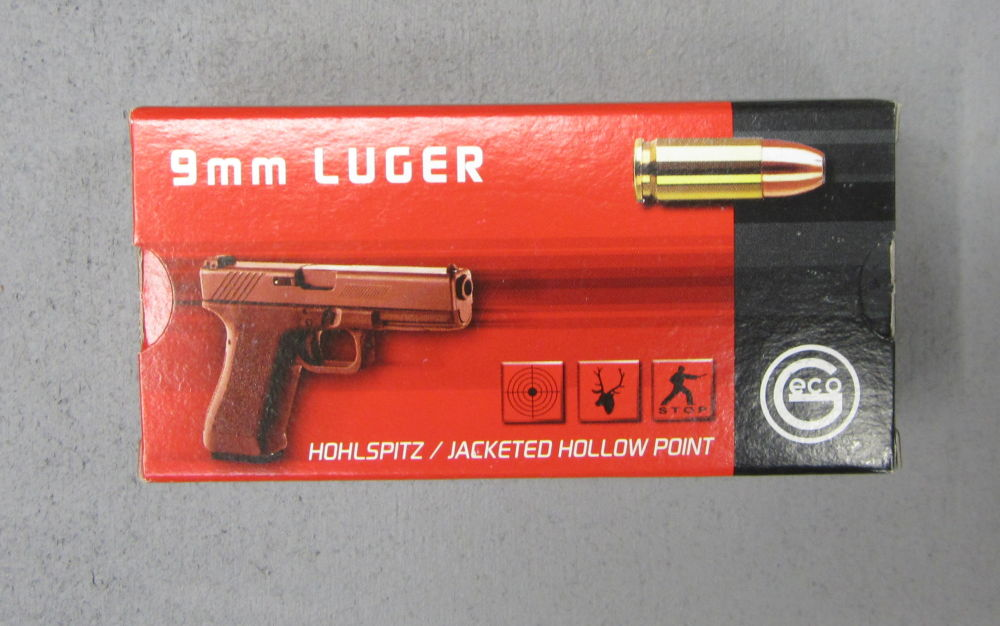 GECO 9 mm Luger / 9x19 Ausführung Hohlspitz