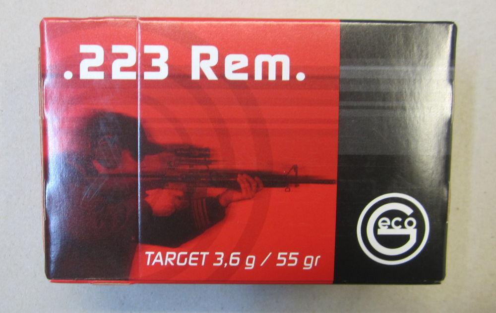 GECO .223 Rem. FMJ Target 55 grain / 3,6 gramm