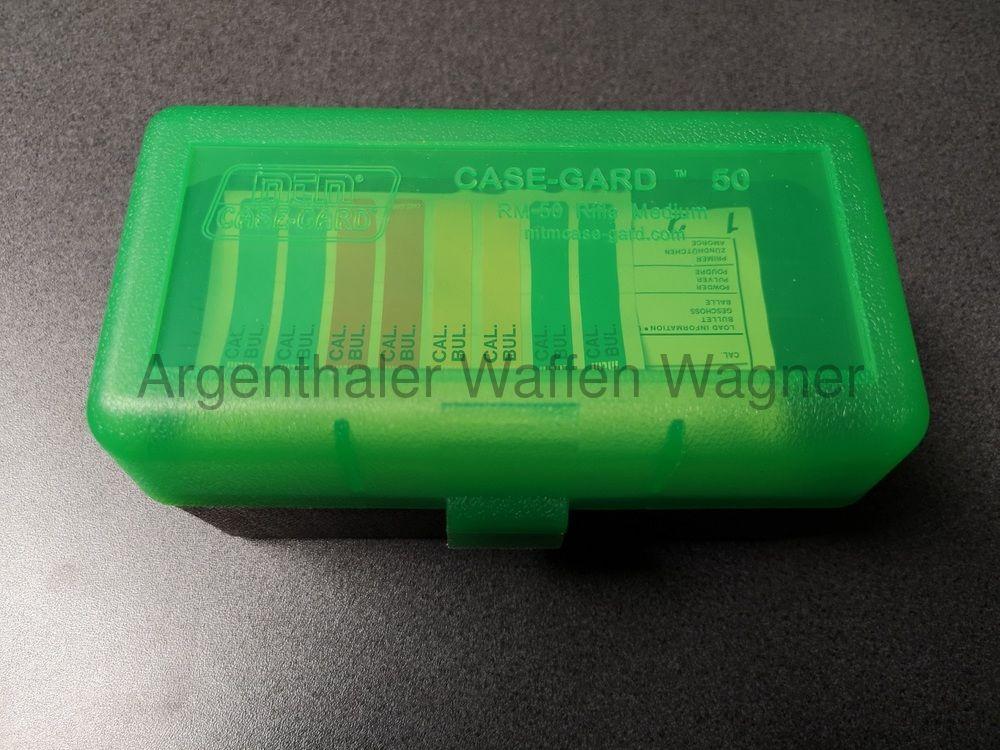 MTM RM-50-16T PATRONENBOX M. KLAPPDECKEL 50RDS CLR-GREEN/