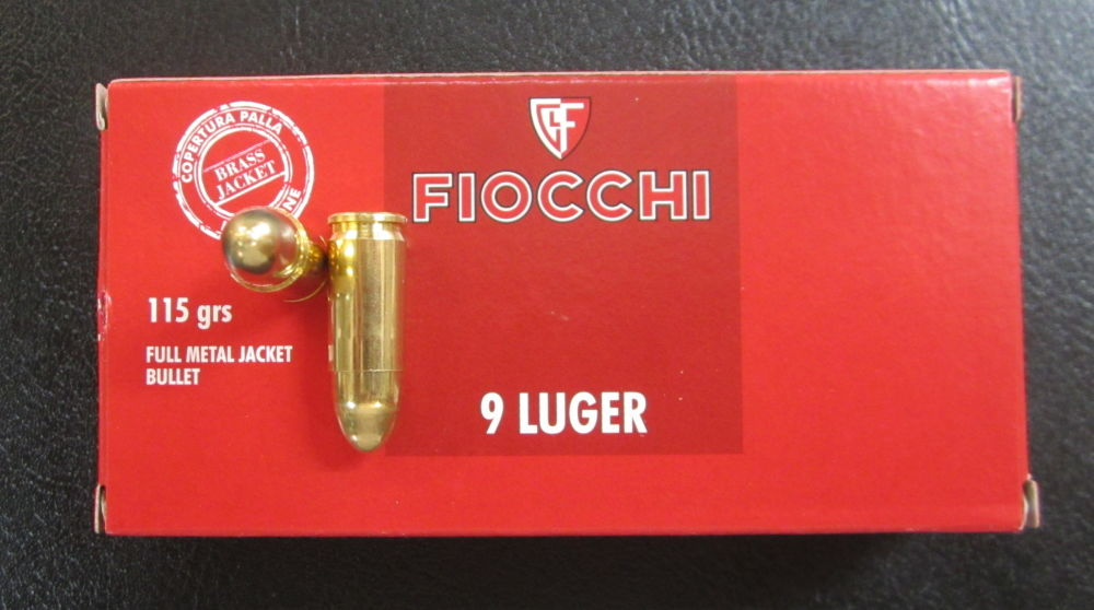 FIOCCHI  ITALY FIOCCHI  9 mm Luger  115 grain